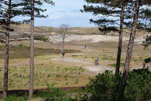 Mountainbike huren Schoorl eerste gedeelte woestijn